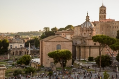 A-rooftop-view-of-Via-dei-Fori-Imperiali-Rome-Italy